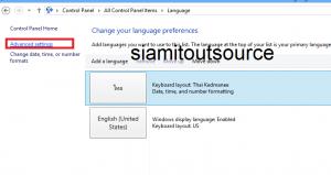 advanced setting language