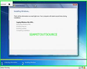 install windows7 Wait